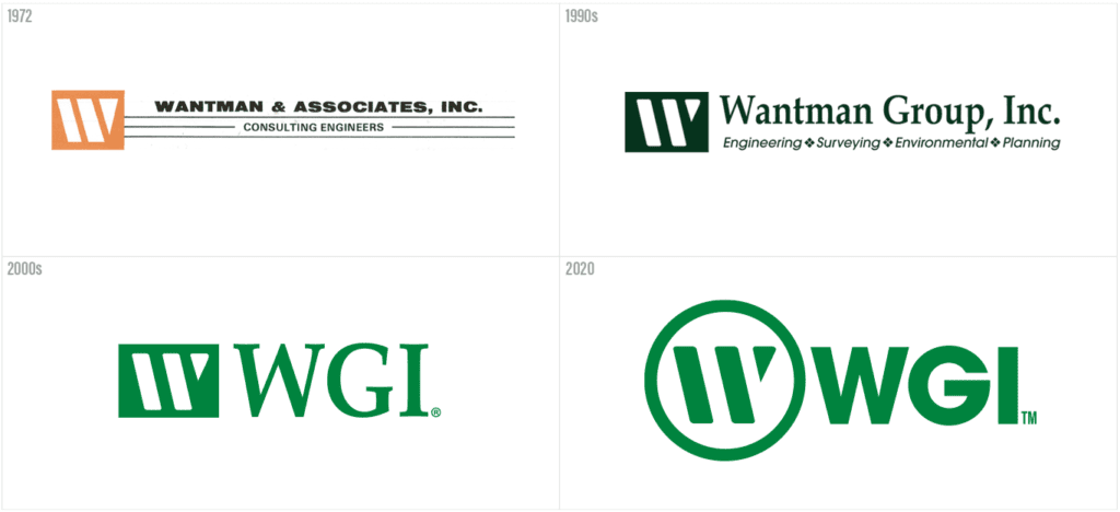 WGI Logo evolution